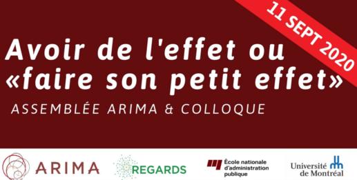 affiche de l'assemblée ARIMA et colloque